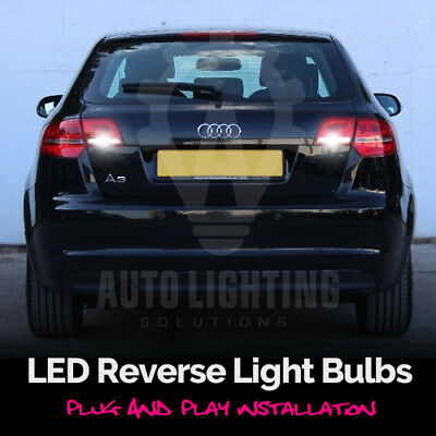 For AUDI A3 (8P) Xenon White LED Reverse Light Bulbs Upgrade *SALE*