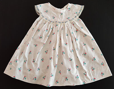 Vintage 1960's Baby Girl's Dress - Pink Rosebuds - Reborn Dolls, Collector, Baby
