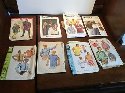 8 Vintage Sewing Patterns McCalls Vogue Simplicity Butterick Vogue Mens