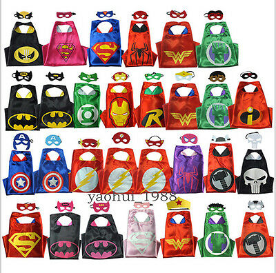 &1 Cape&1 Mask& Cape For Kid Birthday Party Favors And Ideas Kids Superhero Cape