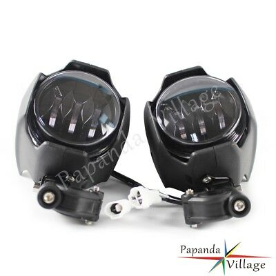 2x Motorcycle LED Auxiliary Lights Lamp w/360° Adustable Bracket For BMW R1200GS
