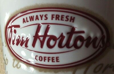 Tim Hortons Coffee Mug Cup Road Trip Red Letter Indented 2009 Limited Edition #9