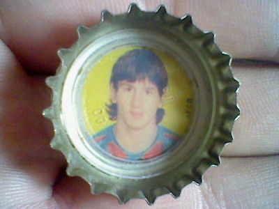 Messi Joven Barcelona  Chapa Botella Coca Cola Antigua