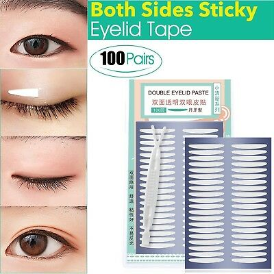100 Pairs Self-adhesive Invisible Double Eyelid Tape, Both Sides Sticky- Slim an