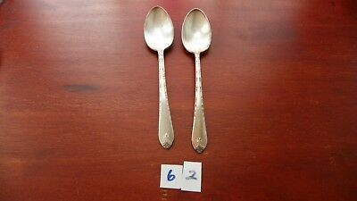 Set Of 2   International  Exquisite   Oval Soup Spoons  Silver Plate
