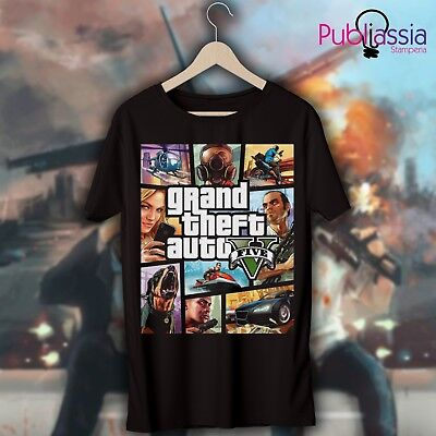 GTA 5 T-shirt maglietta 30 Grand Theft Auto vice city Trevor ps4 xbox regalo