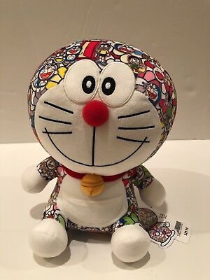 Takashi Murakami X Uniqlo Doraemon Plush Toy Brand New Limited Edition With Tags