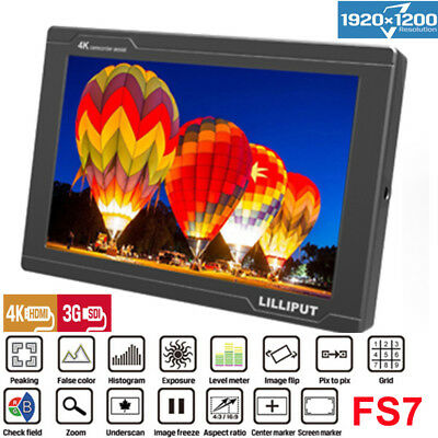 "Lilliput FS7 7"" 1920*1200 Top Field Camera Monitor 170"" Viewing Angle for Camera"