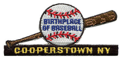 """Cooperstown New York Birthplace Of Baseball 3.5"""" Souvenir Patch"""