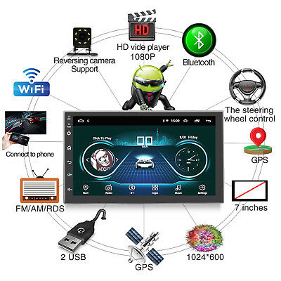 """Android 8.1 Car Radio 7"""" GPS RDS OBD WiFi 3G/4G Mirror Link Germany In-Stock DHL"""