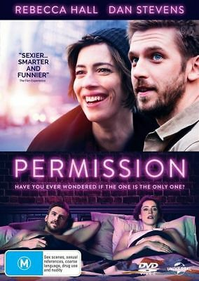 Permission Dvd, New & Sealed, 2018 Release, Region 4, Free Post