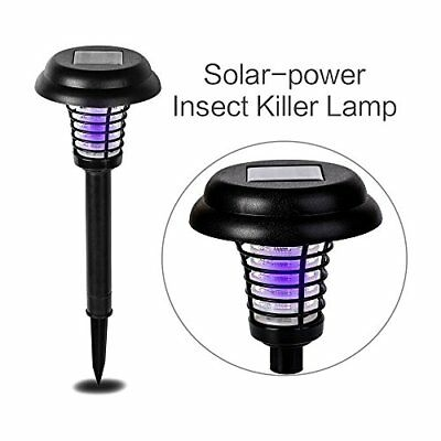 Solar Powered Outdoor Insect Killer Bug Zapper Mosquito Killer Hang or Stick