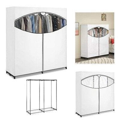 Freestanding Clothes Closet Extra Wide Garment Organizer With Cover Wardrobe  NEW