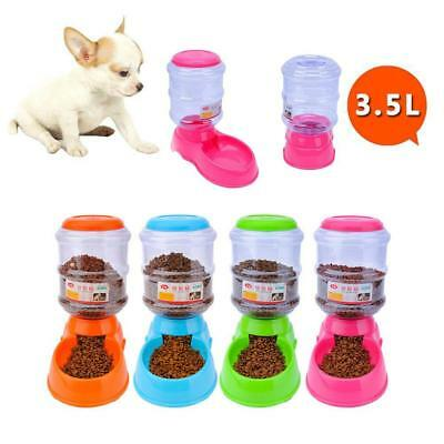 Large Automatic Pet Dog Cat Water Feeder Bowl Bottle Dispenser Plastic 3.5 L^