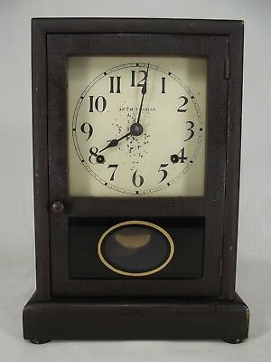 ANTIQUE SETH THOMAS MANTEL CLOCK Art Deco Oak rare wood chime 1900's USA
