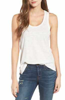 908a9e25efbd1 Madewell Whisper Cotton Soft Scoop Tank Top Style G2274 Ivory Size Large NWT