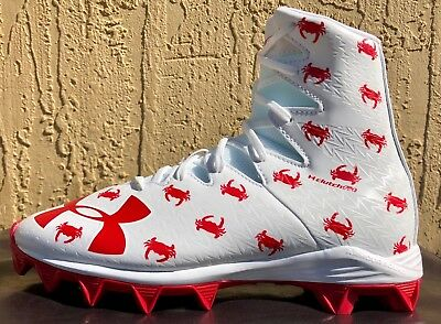 8c899be0ca9 Kids Boys Under Armour AU Highlight RM Jr Football Cleats Size 4.5 White Red