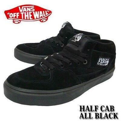 87262eb41a VANS HALF CAB 9.5 Steve Caballero Skateboard Shoes All Black ...