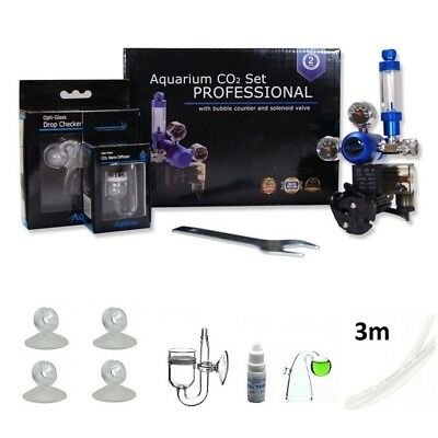 complete aquarium co2 system | co2 kit - set with solenoid valve or without NEW