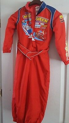 Disney Cars Lightning McQueen Racing Halloween Costume Child Small 5/6 & DISNEY PIXAR CARS Lightning McQueen Halloween Costume Dress Up Size ...