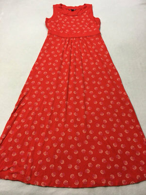 b2aa2e3d39f Lands End S 6 8 Dandelion Floral Bright Cherry Print Jersey Maxi Dress  Stretch