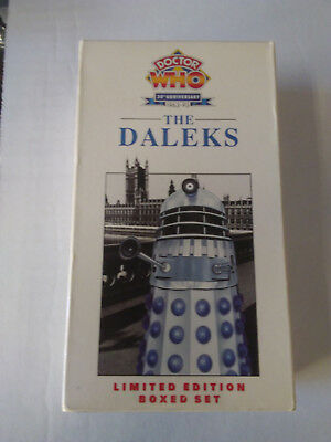 Doctor Who 30th Anniversary 1963-93 The Daleks VHS, 2000 2 Tape Set & The Chas