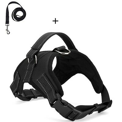 No Pull Adjustable Dog Pet Vest Harness and leash Small/Medium/Large/XL