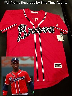 timeless design 7979f 946c3 OZZIE ALBIES ATLANTA Braves Mens Limited Edition American Flag Alternate  Jersey