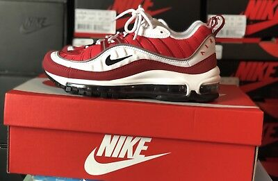 37b31ab3b0 Nike W Air Max 98 Gym Red Size 8 AH6799 101 Valentines Day Airmax Sneakers