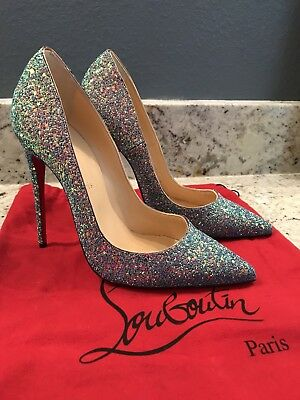 6ad1eccb211 NEW AUTHENTIC CHRISTIAN Louboutin So Kate 120 Glitter Dragonfly 39