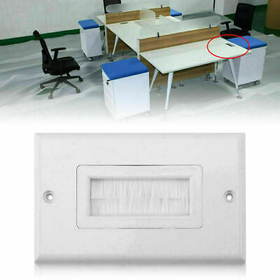 1/2/3 Single Gang Bristles Brush Wall Plate Port Insert Cover Outlet Mount Panel