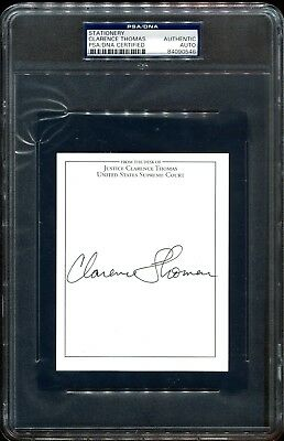 Clarence Thomas Supreme Court Justice Signed Note Card Autograph PSA DNA COA
