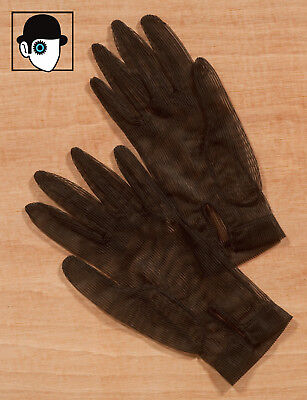 VINTAGE 40s/50s MESH GLOVES - SIZE 6 1/2 - SMALL - (Q)