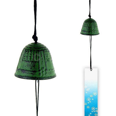"Japanese Furin Wind Chime Nambu Cast Iron ""Korogi"" Green Cricket USA"