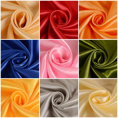 "Satin Fabric for Wedding Dress 60"" inches By the Yard Bridal Handmade DIY Party"