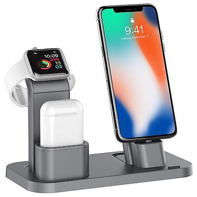 iPhone X/8/8+ Charging Dock Station Apple Watch Charger Stand AirPods Holder New