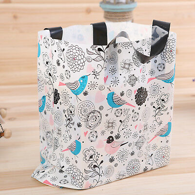 Heavy duty Printed Reusable Plastic bag Frost Gift Shopping bags With Handle