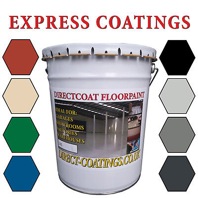 Garage Floor Paint - 20L - Heavy Duty - Grey, Red, Range Of Colours