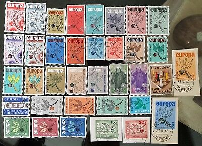 1965 Europa Stamps Mint Never Hinged CTO Collection 18 Countries Lot