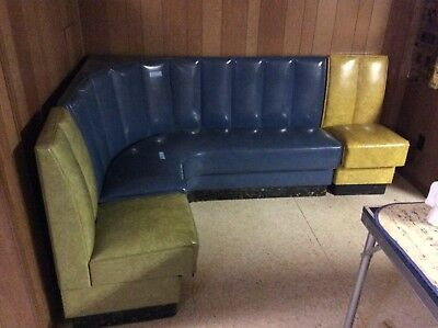 Vintage Mid-Century 3 Section Vinyl Sofa - Well Made - Great Look & Condition