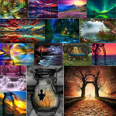 Scenery 5D Full Drill Diamond Painting DIY Cross Stitch Craft Art Home Decor Sit