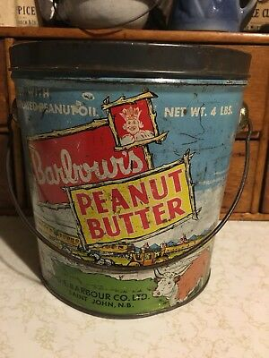 Barbour's Peanut Butter Tin with Lid