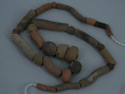 Ancient Teracotta etc. Beads Strand Islamic 1200 AD #BEF11(F)
