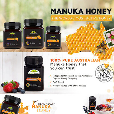 REAL HEALTH MANUKA HONEY 250g 500g 100 300 500 830 MGO Royal King Natural Raw ☆