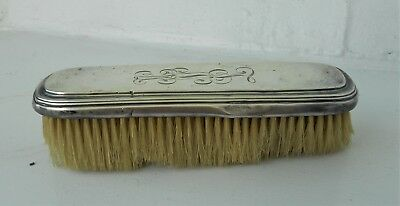 Antique  Silver Vanity/clothes Shoe Brush  Monogramed