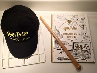 Harry Potter Cap Hat Order Of The Phoenix Coloring Book Wand Lot FREE SHIPPING