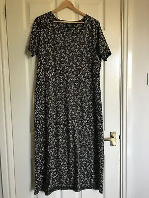 16c25550dc2f Laura Ashley Floral Vintage Look Long Cotton Jersey Dress Extra Large
