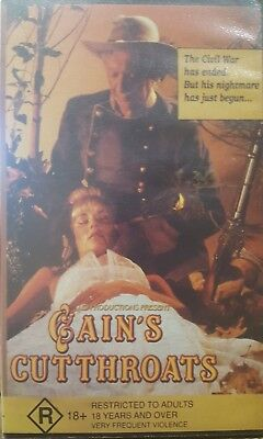 Cain's Cutthroats Rare Deleted Vhs Video Tape Civil War Drama Film *Not On Dvd*