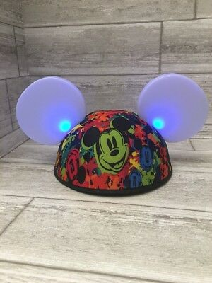 Mickey Mouse Ears Hat Glow with the Show Light UP Interactive Disneyland