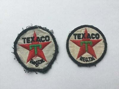 Lot of Two Vintage Texaco Gas Logo Patches